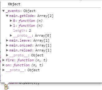 object in f