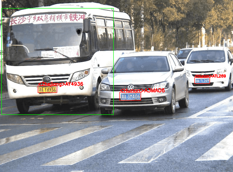 OpenCV Dnn调用OpenVINO security_barrier_camera模型检测并识别车牌