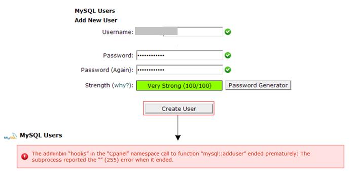 添加新用户出错